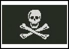 Mini Pirate Flag - Cross Stitch Chart