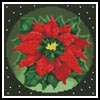 Mini Poinsettia 2 - Cross Stitch Chart