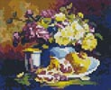 Mini Still life with Pomegranate - Cross Stitch Chart