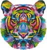 Mini Pop Art Tiger - Cross Stitch Chart