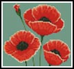 Mini Poppies - Cross Stitch Chart
