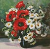 Mini Poppies and Daisies - Cross Stitch Chart