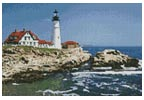 Mini Portland Head Lighthouse - Cross Stitch Chart