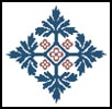Mini Pugin Design 1 - Cross Stitch Chart
