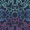 Mini Purple Blue Green Square - Cross Stitch Chart