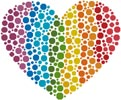 Mini Rainbow Heart - Cross Stitch Chart
