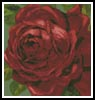 Mini Red Rose - Cross Stitch Chart