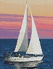 Mini Sailing at Sunset - Cross Stitch Chart