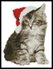 Mini Santa Cat - Cross Stitch Chart
