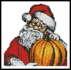 Mini Santa Pumpkin - Cross Stitch Chart