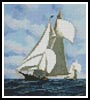 Mini Sappho vs Livonia, Americas Cup 1871 - Cross Stitch Chart