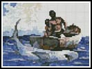 Mini Shark Fishing - Cross Stitch Chart