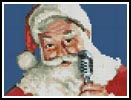 Mini Singing Santa - Cross Stitch Chart