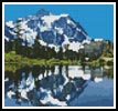 Mini Snow Capped Mountains - Cross Stitch Chart