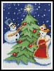 Mini Snow Couple - Cross Stitch Chart