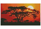 Mini Sunrise in Kenya - Cross Stitch Chart