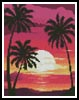 Mini Sunset with Palm Trees - Cross Stitch Chart