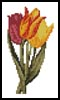 Mini Three Tulips - Cross Stitch Chart