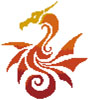 Mini Tribal Dragon - Cross Stitch Chart