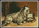 Mini Two Terriers - Cross Stitch Chart