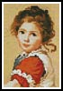 Mini Victorian Girl - Cross Stitch Chart