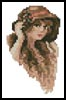Mini Victorian Lady 2 - Cross Stitch Chart