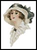 Mini Victorian Lady 4 - Cross Stitch Chart