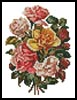 Mini Victorian Roses Bouquet - Cross Stitch Chart