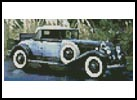 Mini Vintage Car 3 - Cross Stitch Chart