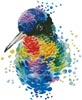 Mini Watercolour Hummingbird - Cross Stitch Chart