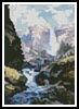 Mini Waterfall in Yosemite - Cross Stitch Chart