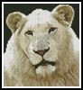 Mini White Lion - Cross Stitch Chart