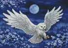 Mini White Owl - Cross Stitch Chart