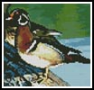 Mini Wood Duck - Cross Stitch Chart