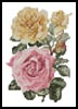 Mini Yellow and Pink Roses - Cross Stitch Chart