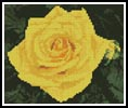 Mini Yellow Rose Photo - Cross Stitch Chart