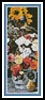 Mixed Flowers Bookmark - Cross Stitch Chart