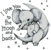 Moon and Back - Cross Stitch Chart