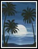 Moonlight with Palm Trees - Cross Stitch Chart