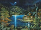 Moonlit Cabin - Cross Stitch Chart
