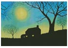 Moonlit Evening - Cross Stitch Chart