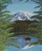 Moose near Mt Rainier - Cross Stitch Chart