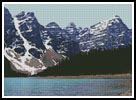 Moraine Lake in Banff - Cross Stitch Chart