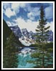 Moraine Lake Photo - Cross Stitch Chart