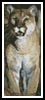 Mountain Lion Bookmark - Cross Stitch Chart