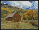 Mountains and Barn - Cross Stitch Chart