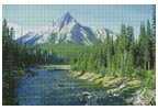 Mountain Stream - Cross Stitch Chart