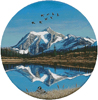 Mount Shuksan Round - Cross Stitch Chart