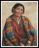 Navajo Indian Woman - Cross Stitch Chart