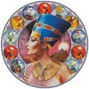 Nefertiti Circle (Left) - Cross Stitch Chart